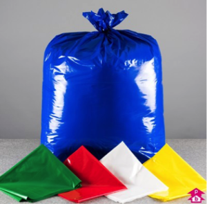 single colour waste bags
