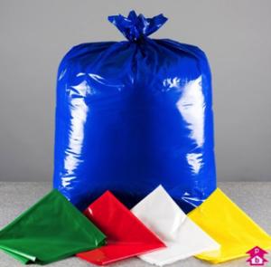 single colour waste bags