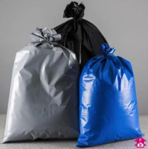 coloured waste bag